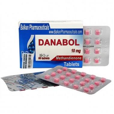 Danabol Данабол Метандиенон Метан 10 мг, 100 таблеток, Balkan Pharmaceuticals в Талдыкоргане