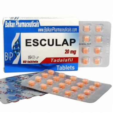 Esculap Тадалафил Эскулап 20 мг, 20 таблеток, Balkan Pharmaceuticals в Талдыкоргане
