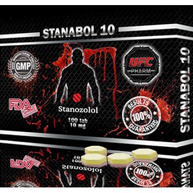 STANABOL 10 Станабол 10 мг, 100 таблеток, UFC PHARM в Талдыкоргане